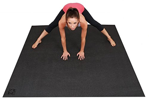 Square36 Large Yoga Mat 6 Feet x 6 Feet (72''x72''). This Big Yoga Mat is Designed for Barefoot Home Yoga, Meditation, Stretching and Rehabilitation. 3X Wide and Long Non-Slip Yoga Mat. by Square36