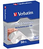 Verbatim CD Sleeves 50pk - Sobres para CDs (Capacidad de CD: 50 Discos)