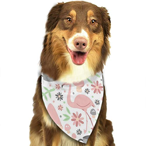 OURFASHION Gnome Garden Light Bandana Triangle Bibs Scarfs Accessories for Pet Cats and Puppies.Size is About 27.6x11.8 Inches (70x30cm). ()