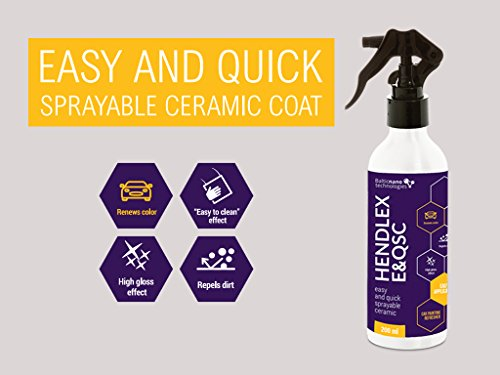 Hendlex Nano Ceramic Coating Spray | Fast and Easy Protect Car Paint with Nanotechnology Auto Detailing Product (6.76oz / 200ml)
