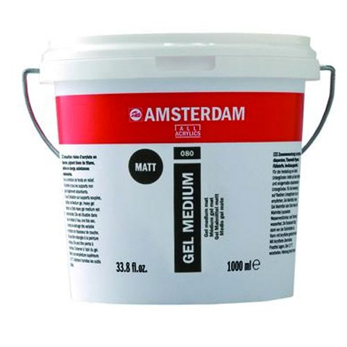 Royal Talens Amsterdam Gel Medium, 1 Liter Tub, Matte (24192080) by Amsterdam