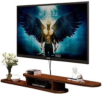 テレビキャビネット リビングルーム収納スペースホーム浮動テレビとウォールマウントフレームテレビコンソールケーブルボックスルータのリモートコントロールDVDスタンド エレガントで環境に優しい (色 : 赤, Size : 120x22x16cm)