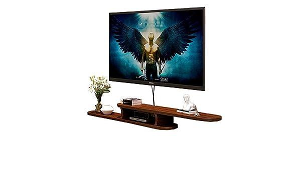 Ouqian-Home Mesas para TV Montado en la Pared Flotante TV Stand Marco Flotante Consola for TV DVD de Control del ...