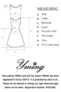 YMING Women's Elegant Cocktail Maxi Dress Deep V Neck 3/4 Sleeve Vintage Pleated Dress