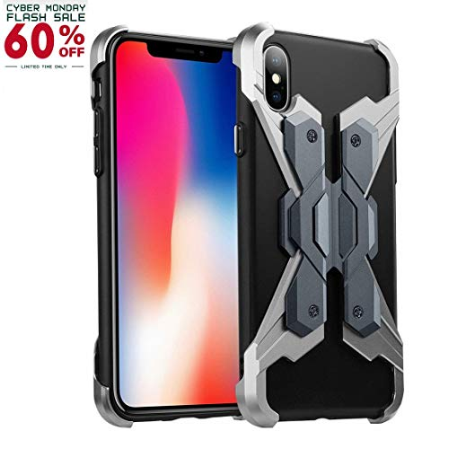 iPhone X Metal Case, Personalized Durable Phone Case for iPhone X, Anti-Scratch and Full Protection/Combined of Aviation Aluminum Alloy Metal and Soft TPU(2018)