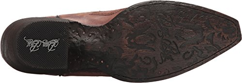 Dan Post Mens Struisvogel Been Cowboy Laars Vierkante Teen - Dp26628 Paars
