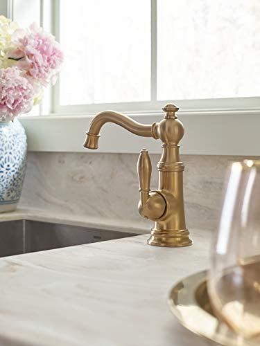 Moen S62101bg Weymouth Single Handle Bar Faucet Brushed Gold Amazon Com