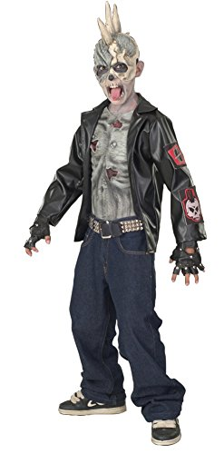 DISC0UNTST0RE Boys - Punk Zombie Kids Costume Md Halloween Costume - Child Medium