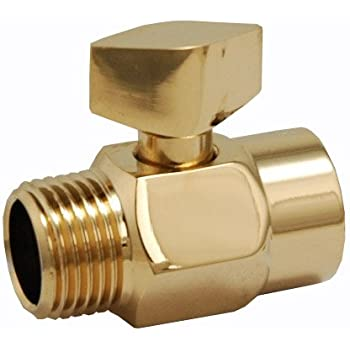 Shower Head Water Flow Volume Control Polished Brass