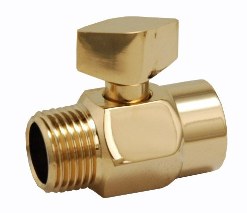 Overhead Shower Water Volume Control Valve, Not Shut Off - By Plumb USA (Polished Brass)