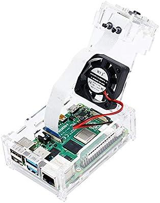 NUOCAI - Carcasa para Raspberry Pi 4, Compatible con Raspberry Pi ...