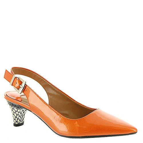 J.Renee Womens Mayetta Closed Toe Casual Slingback Sandals, Orange, Size 11.0 ()