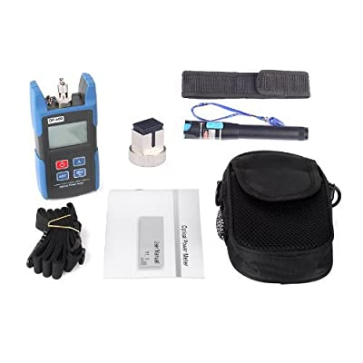 J-Deal TL510C Hand-held Optical Power Meter + TL532 25mW Visual Fault Locator Fiber Optic Cable Tester Meter for CATV CCTV Telecommunications Engineering Maintenance Cabling System