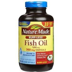 Fish Oil Burp Less Value Size 200 Liquid Softgels 1200 Mg