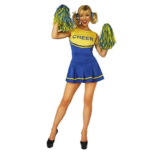 [Cheerleader Womens Fancy Dress Costume Halloween Valentines] (Blue Fancy Dress Costumes)