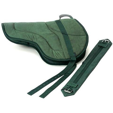 Best Friend English Style Bareback Pad, Navy/Navy Reflective, Horse Size