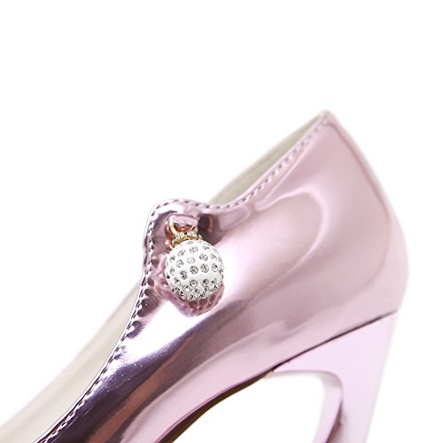 Sandales Inconnu Rose Compensées 1to9 Femme Mmsg00148 THrfwExH