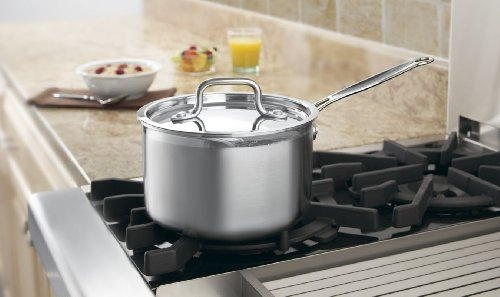 Image of Cuisinart MCP193-18 MultiClad Pro Stainless-Steel 3-Quart Saucepan with Cover