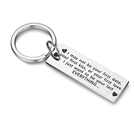 CJ&M I May Not Be Your First Date Your First Kiss Your First Love Keychain Boyfriend Mens Keychain Gift, Dad Gift, Men Gift, Valentines Day Gifts 41up8TSh9dL