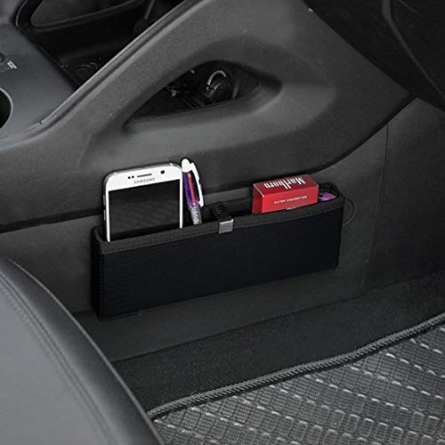 KMMOTORS Ultra Slim Side Pocket Black,Car Seat Side Organizer,Car Pockets (This Computer Appears To Have A Non Standard)