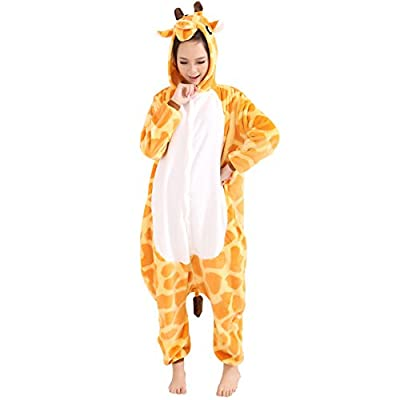 Afoxsos Women's Soft Fleece Animal Cartoon Onesie Adult Pajamas