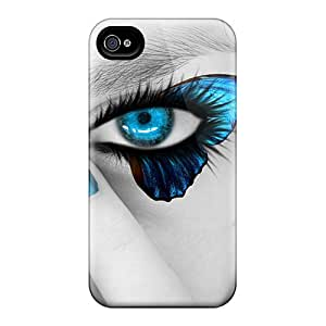 MTs2820ciWr Tpu Case Skin Protector For Iphone 4/4s Butterfly Eyes With Nice Appearance