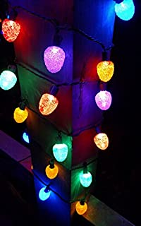 sugar coated led gumdrop christmas light strand set of 25 lights