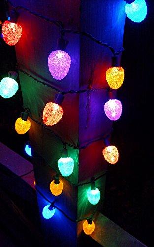 sugar coated led gumdrop christmas light strand set of 25 lights