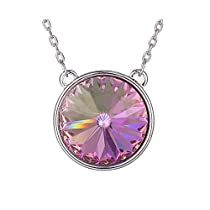 XupingThanksgiving Round Shade Pendant Jewelry Crystals from Swarovski Necklace With Chain Women Halloween Gifts