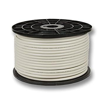 Cable coaxial (135 dB, 5 capas de apantallamiento), alta calidad aleación de