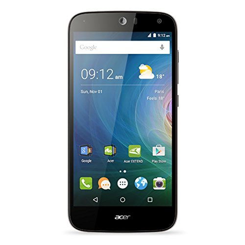 Acer Jade Liquid Z630 16GB Unlocked GSM 4G LTE Quad-Core Android Phone w/8MP Camera - Black (Certified Refurbished)
