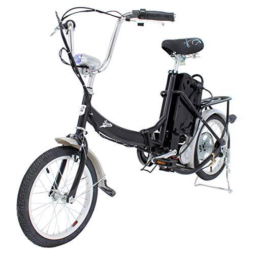 Riscko Bicicleta Eléctrica Plegable 250W de Potencia 25 km/h luz Delantera Acero Lacado con Ruedas de 18 Pulgadas (Negro): Amazon.es: Deportes y aire libre