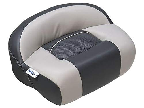 DeckMate Lean Pro Fishing Seat (Charcoal and Gray) - Seat Pro Casting