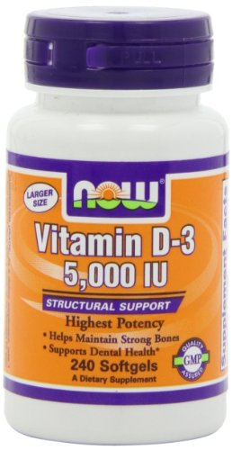 NOW Foods Vitamin D3 5000 Iu, ...