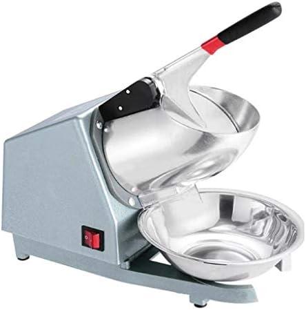 アイスクラッシャー,かき氷機,かき氷メーカー, カクテルアイスクリーム用ステンレスボウルアイスクラッシャーブレンダーで電気アイスクラッシャー機ダブルナイフアイスシェーバースムージーメーカー (Color : Silver)