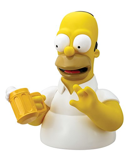 Simpsons The Homer with Mug Bust Bank Action Figure