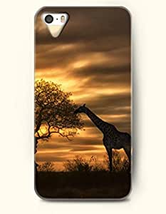 OOFIT Phone Case design with Giraffe Eating Leaves at Sunset for Apple iPhone 5 5s