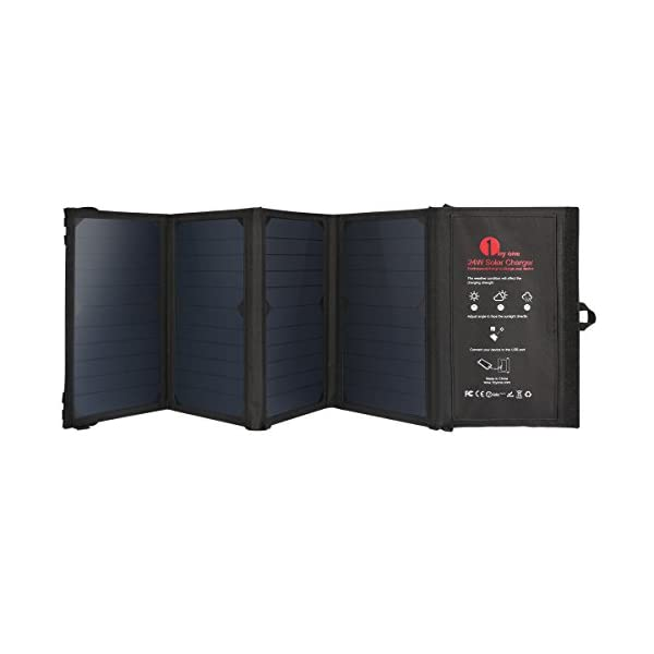 1byone-24W-Foldable-Solar-Charger-with-2-USB-Ports-portable-and-highly-efficient-Solar-Panel-for-iPhone-iPad-iPods-Samsung-Android-Smart-Phones-Tablets-Any-USB-Devices-and-More-Black