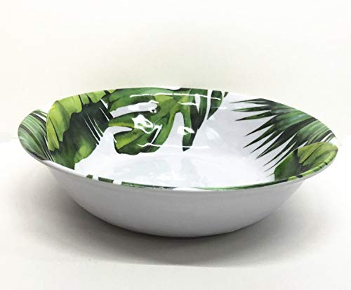 Set of 2 All For You Melamine Bowls Green Leaves Everyday Use Dinner Serving/all purpose Bowl Set (10