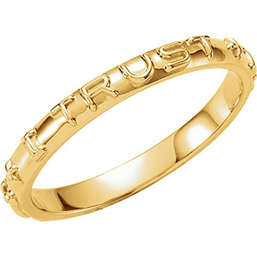 'Jesus I Trust In You' 14k Yellow Gold Prayer Ring, Size 4 by The Men's Jewelry Store (Unisex Jewelry) (Image #3)