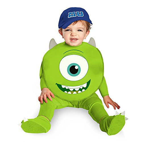 Disguise Costumes Disney Pixar Monsters University Mike Classic Infant, Green/White/Blue, 12-18 Months - Mike Wazowski Baby Halloween Costume