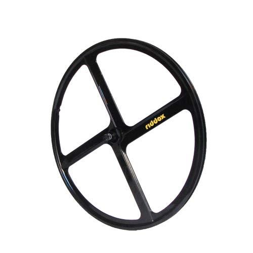 RIDDOX Laufradsatz Singlespeed Fixie 700C 28 Vorderrad – 4 Speichen - Leichtmetall - Schwarz Glanz