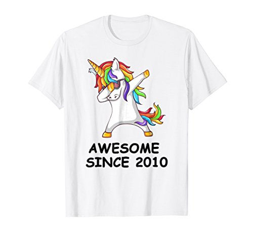 Dabbing Unicorn Shirt Awesome Since 2010 8th Birthday (2010 T-shirt)