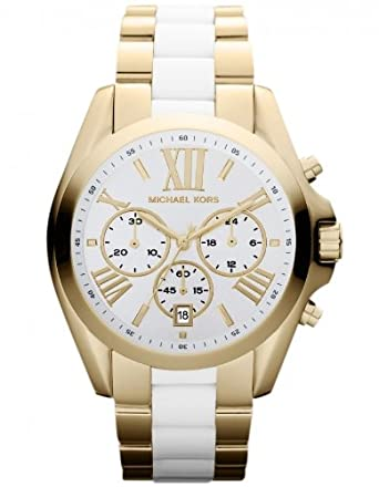 49a4e2136 Image Unavailable. Image not available for. Color: Michael Kors Watches  Bradshaw Two-Tone Chronograph Watch MK5743 OS Gold