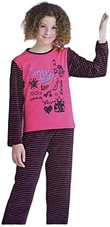 EVEN Pijama niña Invierno. Color Fucsia. Algodón.: Amazon.es: Ropa y accesorios