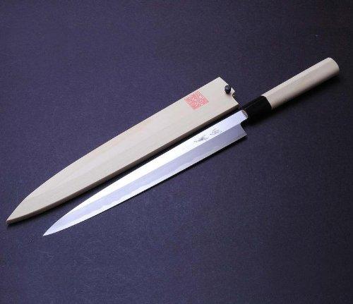 yoshihiro left handed shiroko white steel kasumi yanagi sushi sashimi japanese chef s knife 11 8. Black Bedroom Furniture Sets. Home Design Ideas