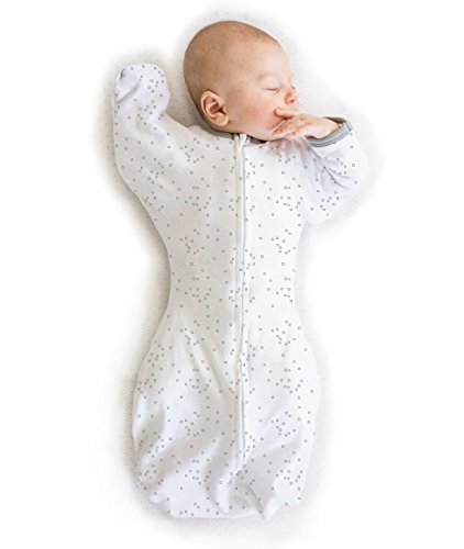 Amazing Baby Swaddle Sack with Arms Up Mitten Cuffs, Confetti, Sterling, Medium, 3-6 Months
