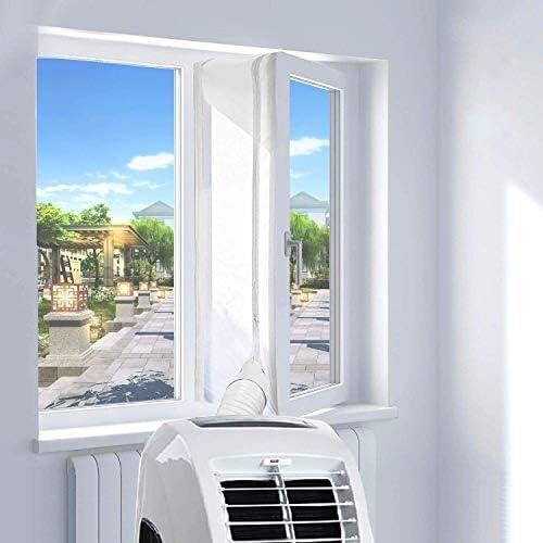con Cremallera Anti-Mosquitos EXTSUD Sello de Ventana Aislamiento de Ventanas para Aire Acondicionado Port/átiles y Secadoras Anti UV 300cm