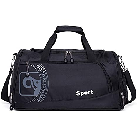 e9f8fc99afc1 Image Unavailable. Image not available for. Color  CLHFJ Men Women Fitness  Gym Bag Separated Shoes Storage Basketball Sports ...
