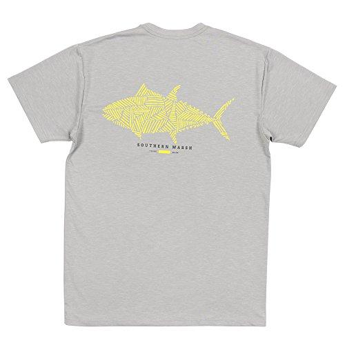 Southern Marsh FieldTec Heathered Performance Tee - Tuna (Tuna Southern)